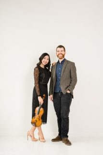 Violinist Haerim Elizabeth Lee and Guest Conductor Thomas Cunningham - Photo by William Oh