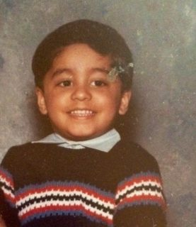 A young Wajahat Ali