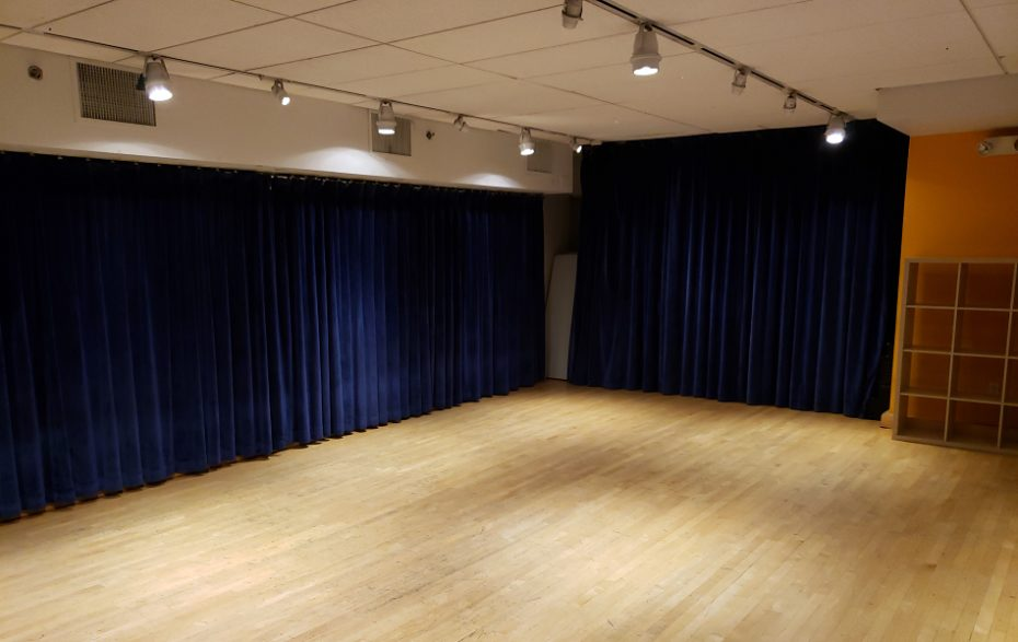 view of Studio with curtains closed