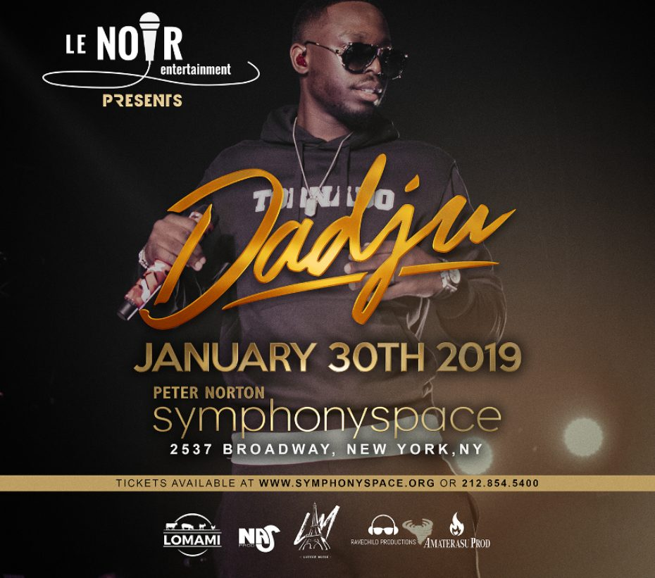 Concert New York 2019 Dadju Live concert in NYC | Symphony Space