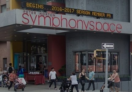 Symphony Space facade as it stands today.